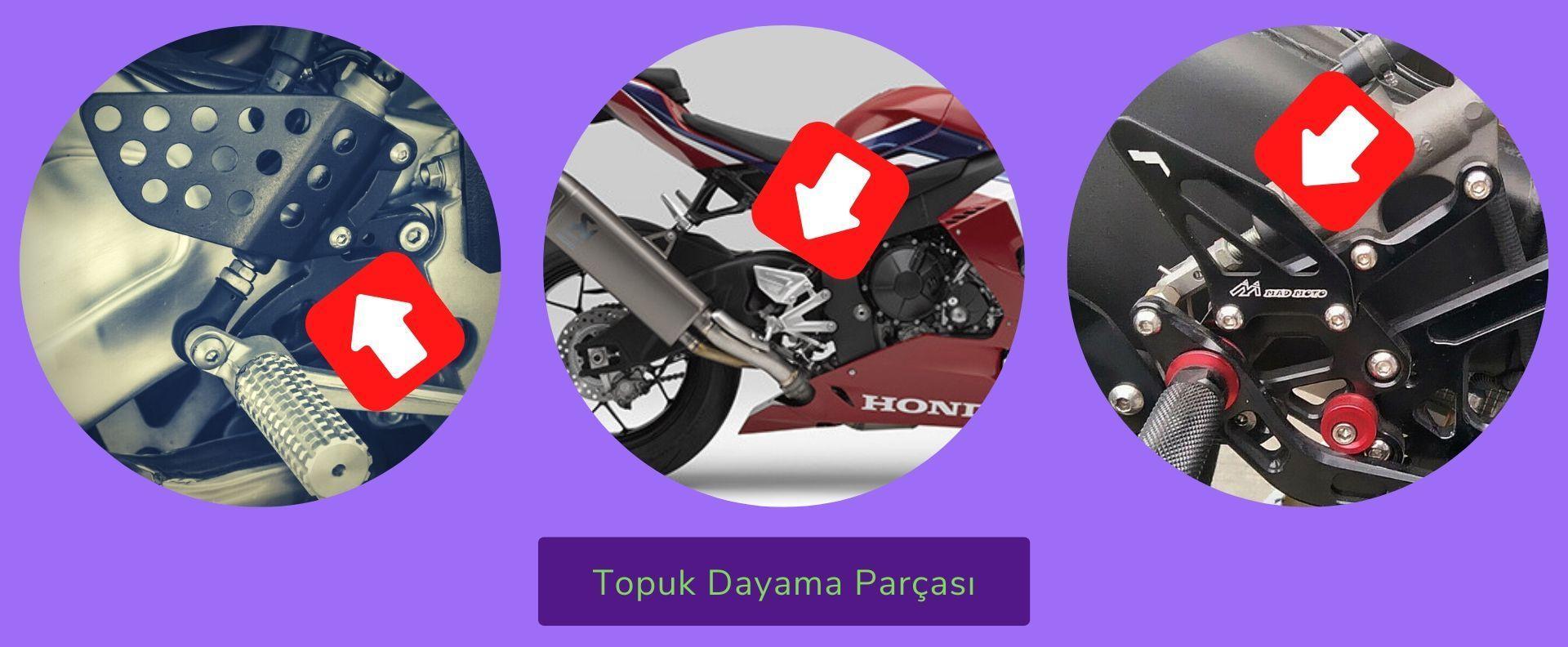 Motosiklet Topuk Dayama parçası görseli