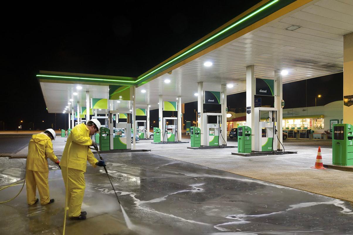 benzinlikler pompa önü kaygandır - benzinlik yıkama