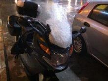 BMW K1200GT ön cam karlı