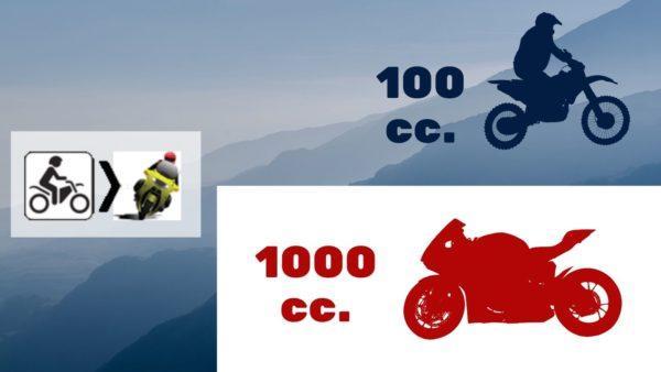 vitesli motosiklete geçiş, motor büyütmek