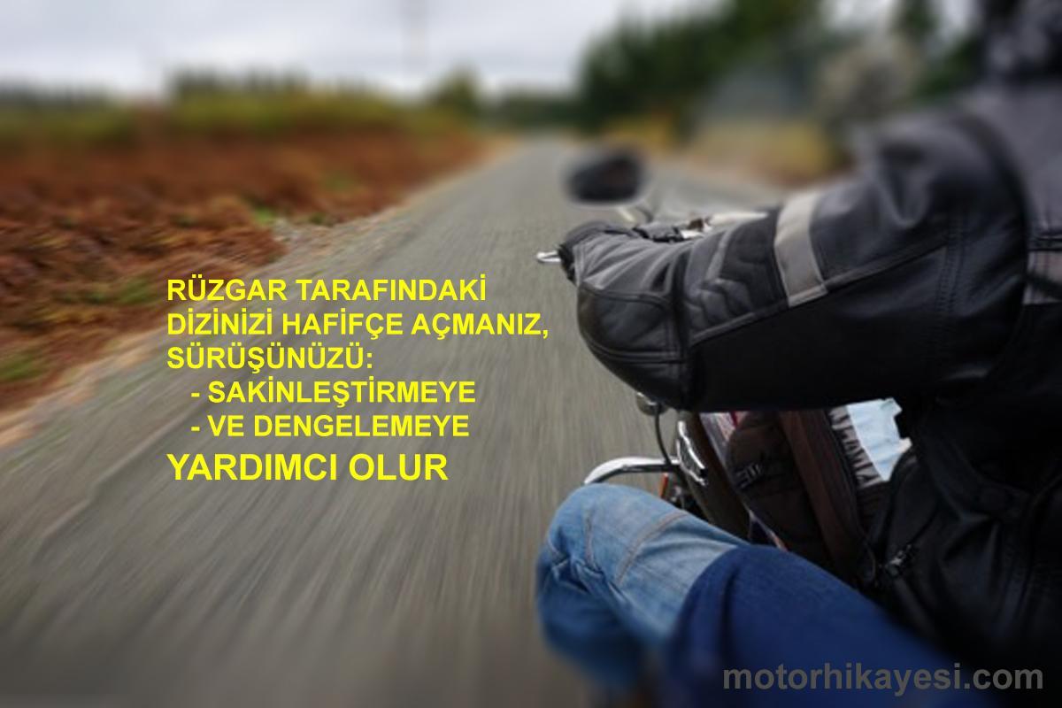 motosiklet rüzgar diz açma