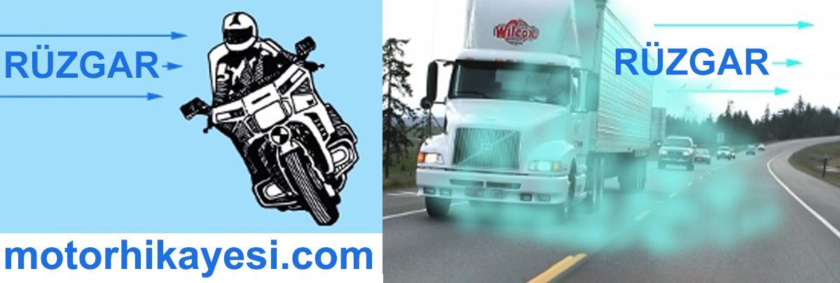 motosiklet rüzgar kamyon