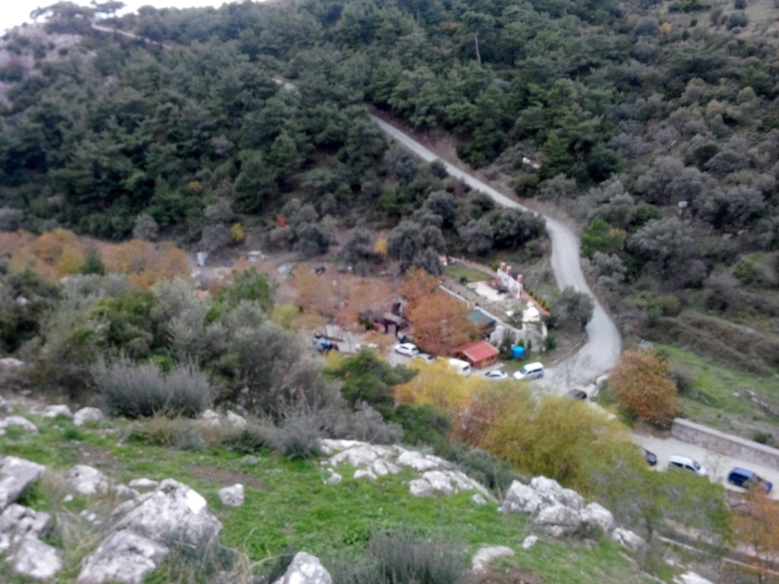 Motosiklet rota: Homeros Vadisi İzmir - tesis yukarıdan bakış