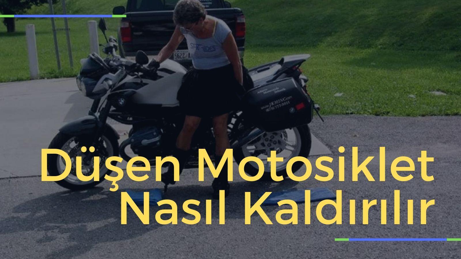 Düşen Motosiklet Nasıl Kaldırılır kapak