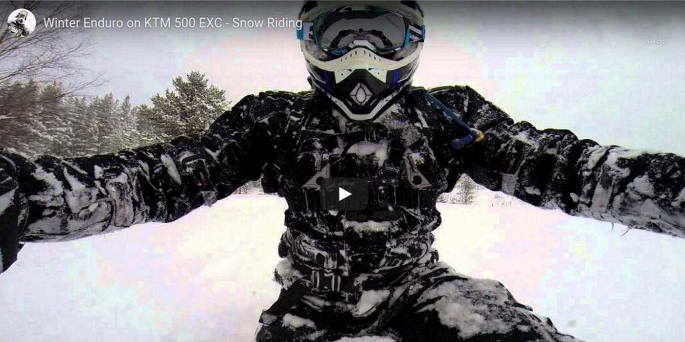 KTM 500 EXC kış enduro sürüşü kapak