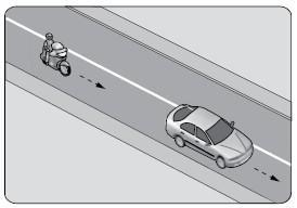 motosiklet takip mesafesi çizim