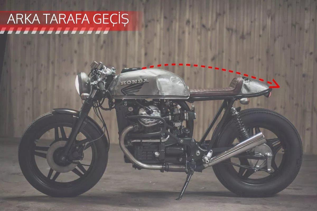 CAFE RACER özel yapım motosiklet nasıl tasarlanmalı - arka tarafa geçiş
