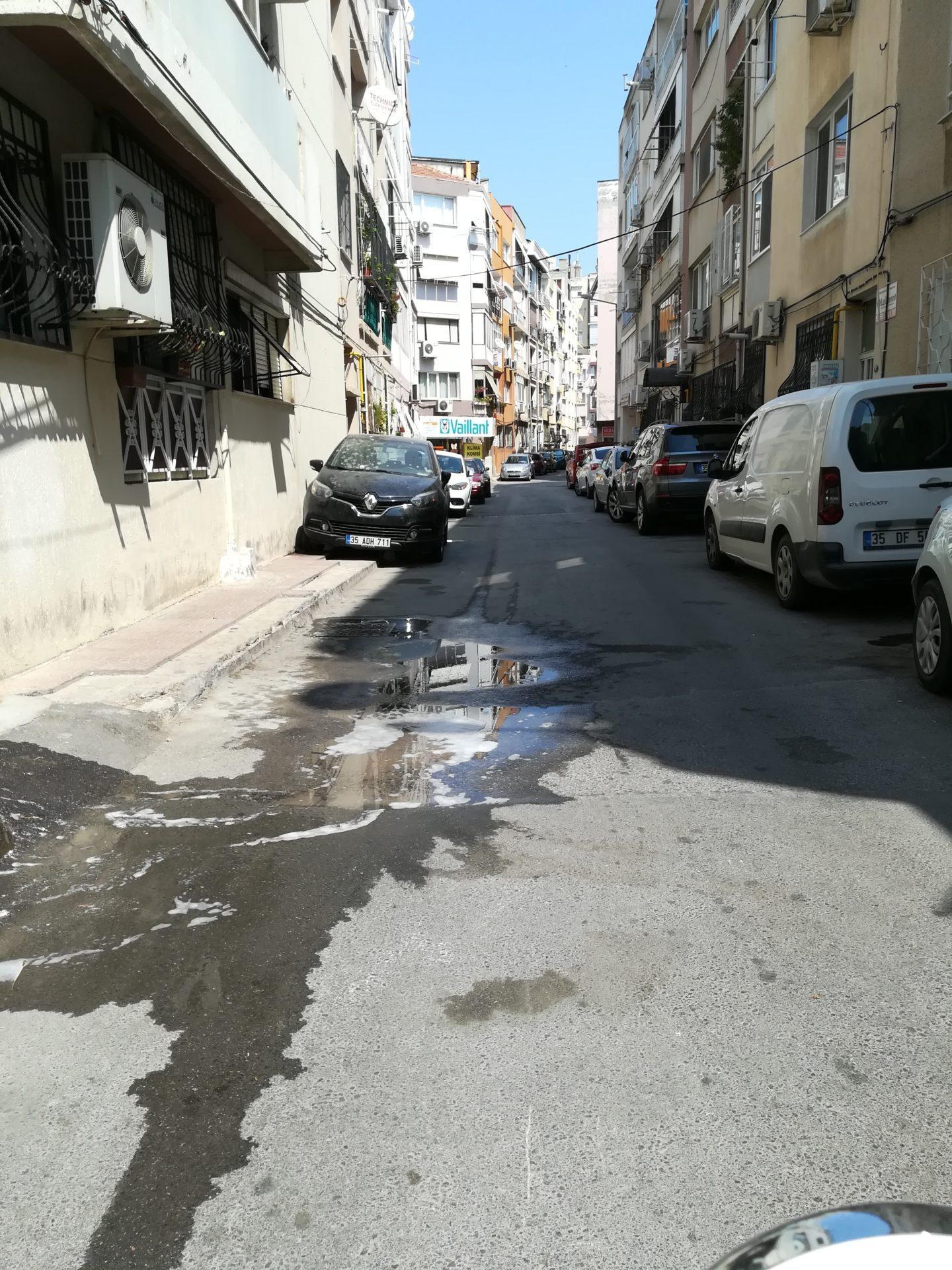 motosiklet dersleri kaygan zemin deterjanlı su