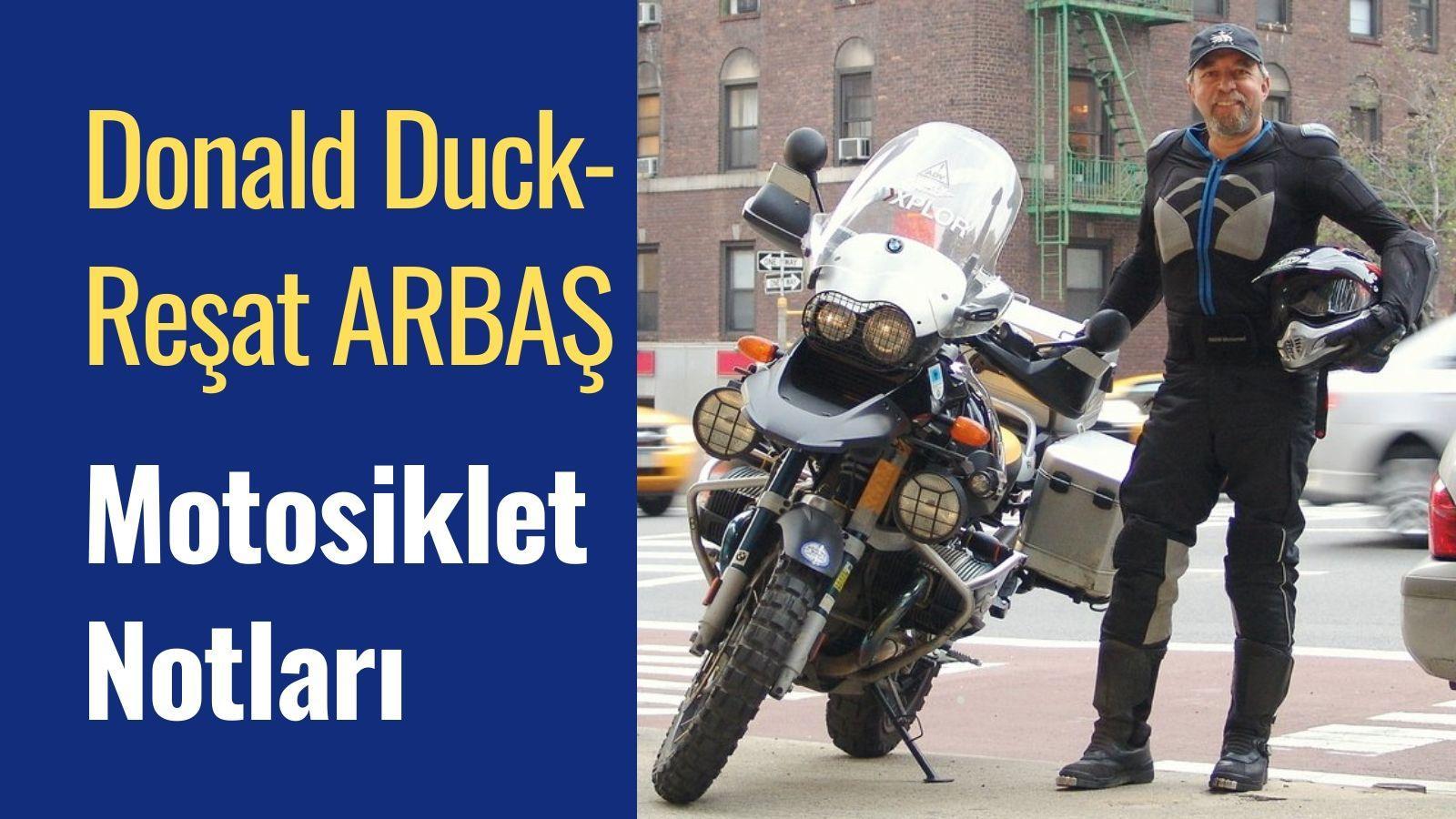 Donald Duck Reşat Arbaş Motosiklet Notları Kapak Görseli
