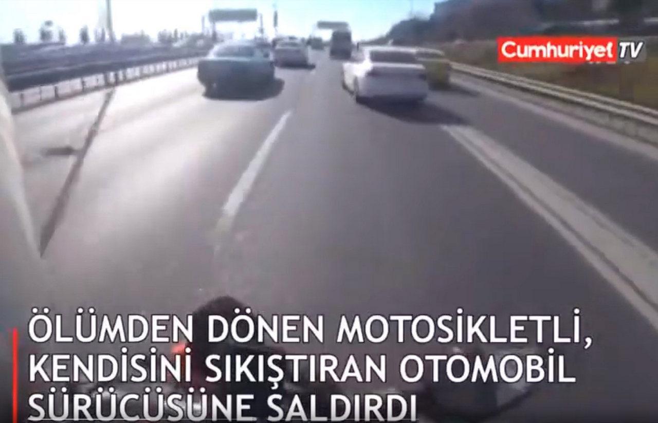 toplu sürüş çete sürüşü istanbul sıkıştırma saldırı video