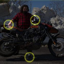 motosiklet - geriye gitmek, yan ayakta döndürmek - tutma ve çekme