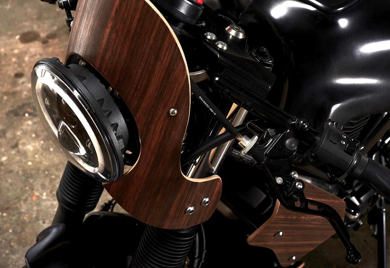 Woodman Ahşap Motosiklet kafa