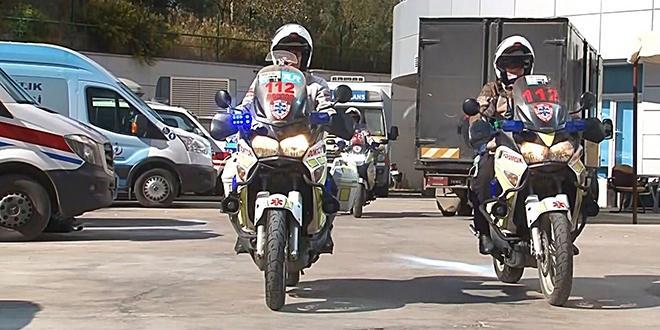 doktordan kaza tavsiyeleri, motorize 112 ekibi motosiklet üzerinde ikili