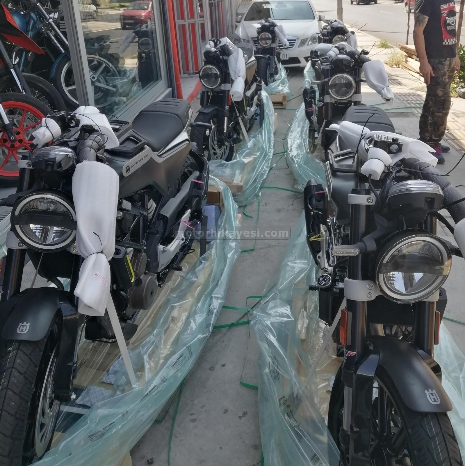 sıfır motosiklet nasıl gelir - iniş, naylon açma