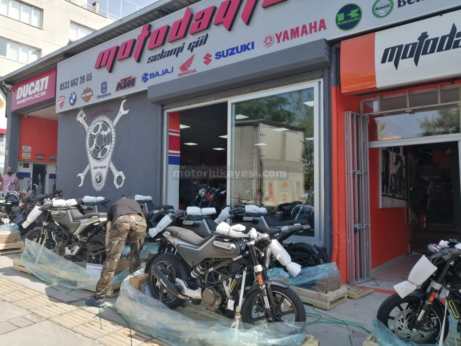 Sıfır motosiklet nasıl geliyor?
