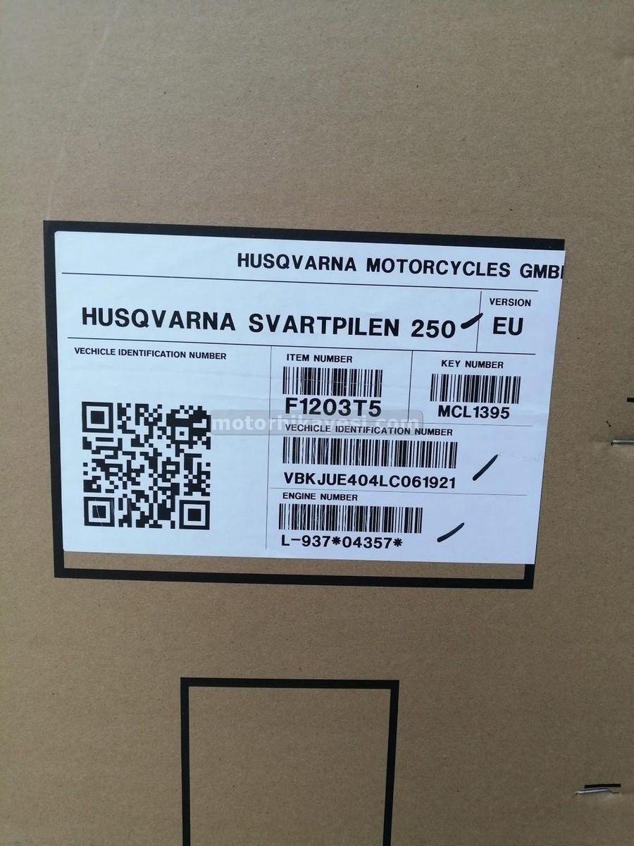 sıfır motosiklet nasıl gelir - kutu etiket
