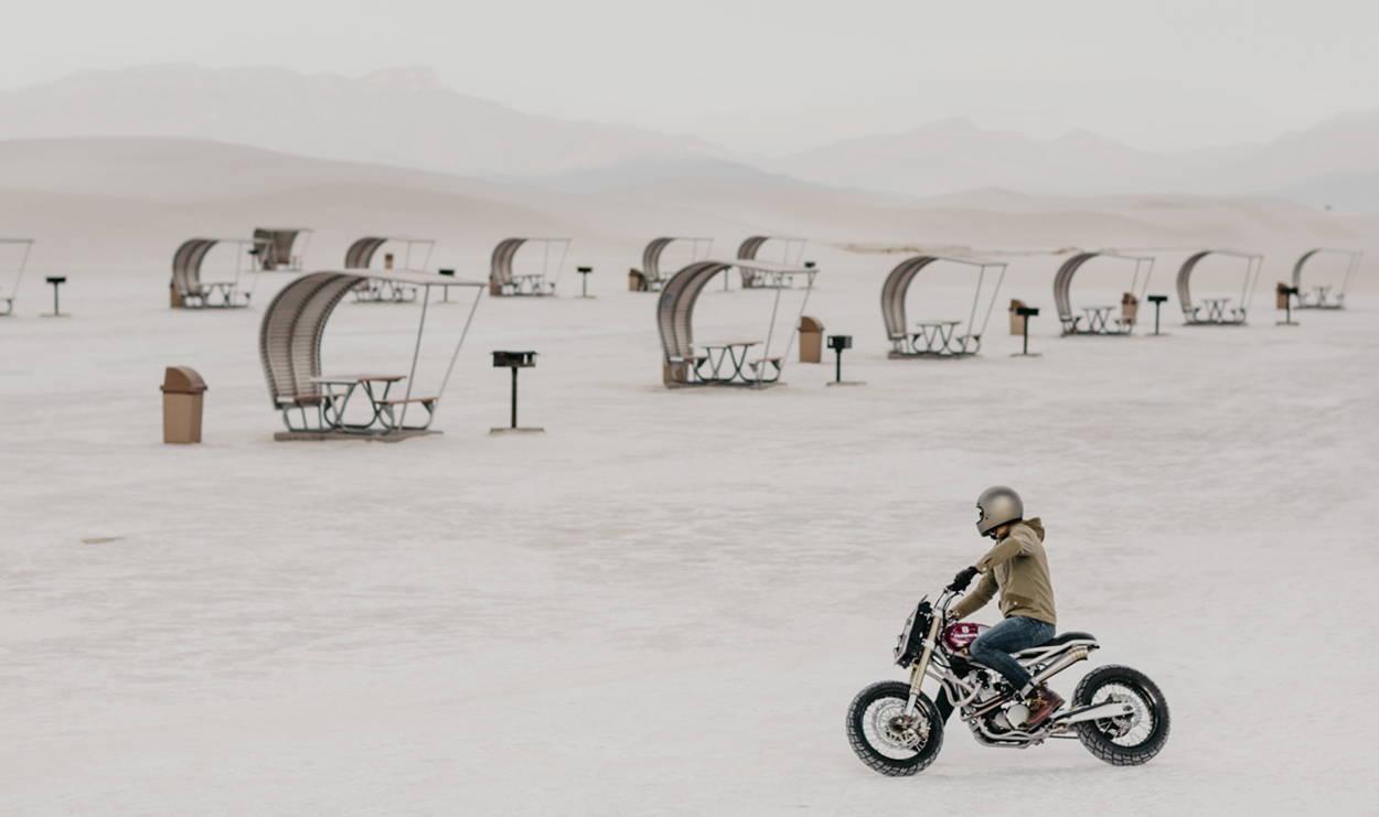 husqvarna te570 özel yapım custom motosiklet karda