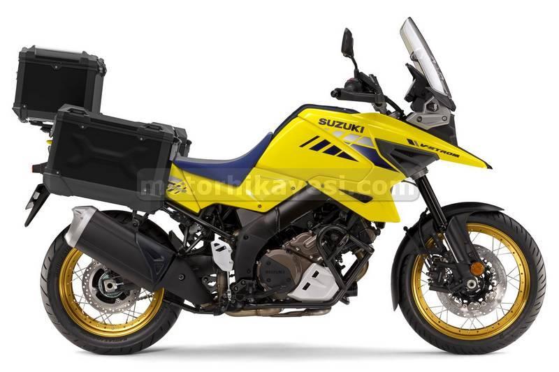 2021 Suzuki V-Strom 1050XT Tour İlk-Bakış adventure-touring sarı sağ yan