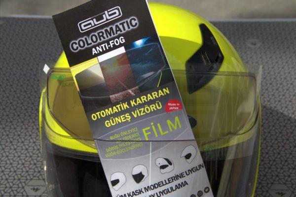 Kask Buğu Önleyici ve Güneş Vizörü filmi kararan vizör pinlock kask ve kutu