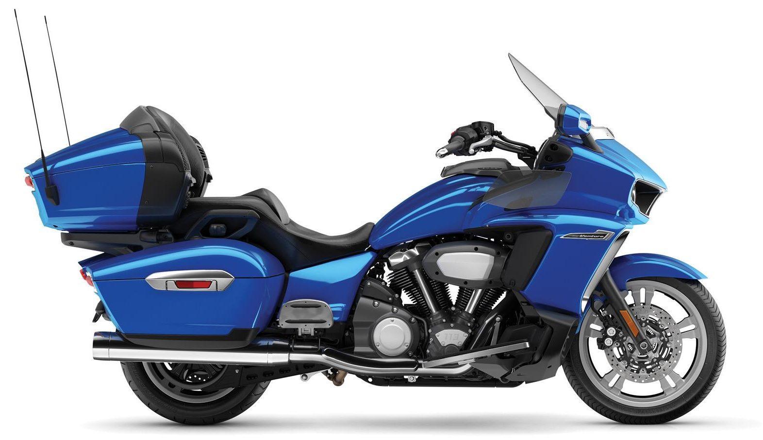 Yamaha STAR VENTURE mavi sağ profil